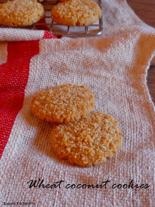 wheat-coconut-cookies