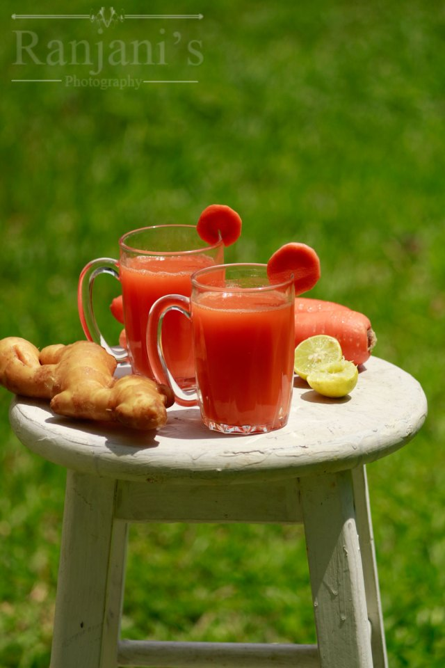 Carrot juice recipe  How to make carrot ginger juice
