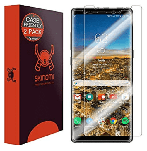 Skinomi case friendly 2pack screen protector for note 8