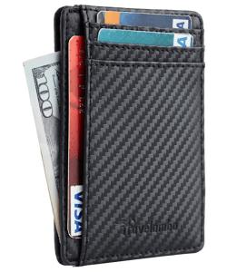 travelambo minimalist leather wallet unisex
