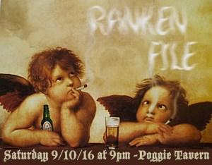 Ranken File Seattle Rock Band Poster for Poggies Tavern 091016