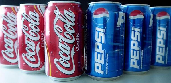 Coco-Cola and Pepsi