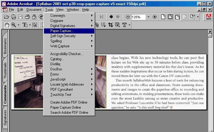 Adobe Acrobat Capture