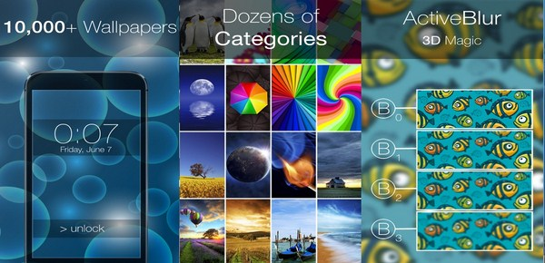 LockScreens with ActiveBlur for iOS 8