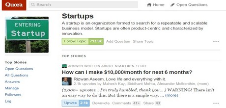 Quora Startups