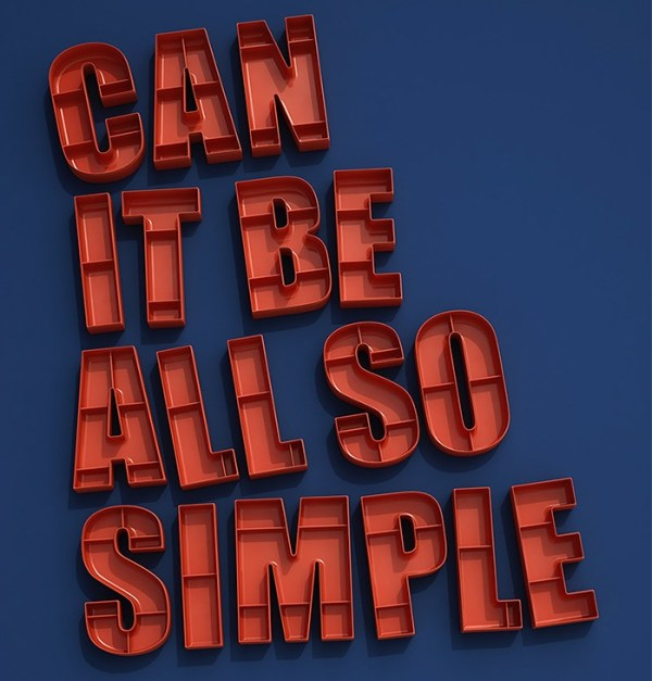 can it be all so simple