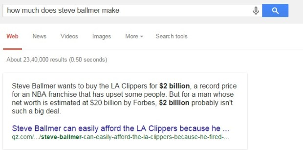 how much does steve ballmer make