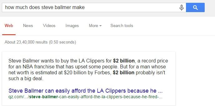 how much does steve ballmer make