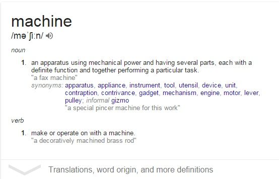 what is machine
