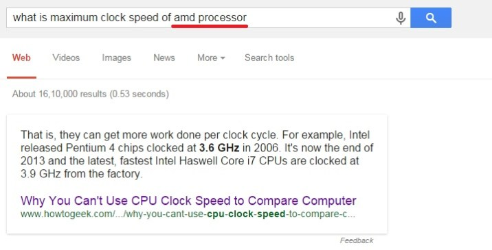 what is maximum clock speed of amd processor