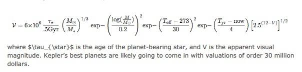 Persamaan untuk menemukan Nilai total planet ini