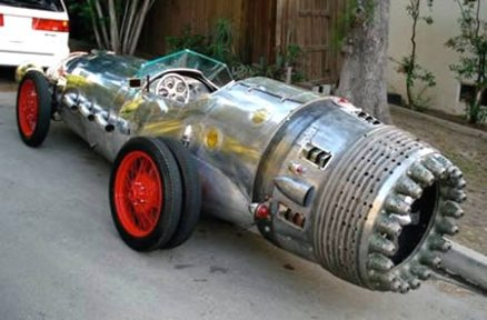 Jet Rocket Powered Car