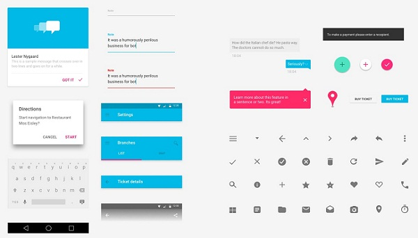 Lollipop Material Design UI kit