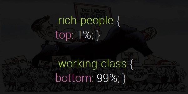 rich and working people