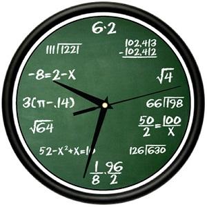 Wall Clock mathematics teacher