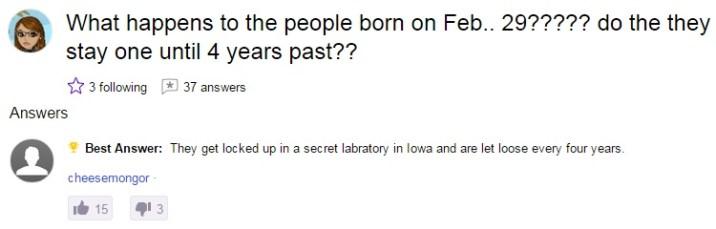 Born on 29 feb