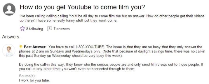How do you get Youtube to come film you