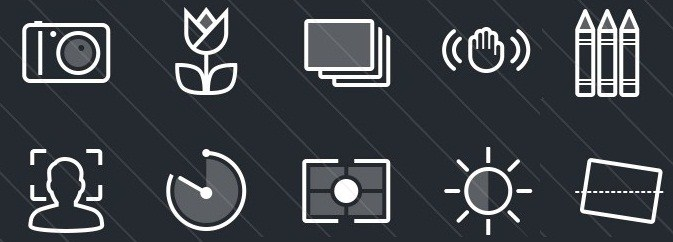 Photography plus Camera Function Icons