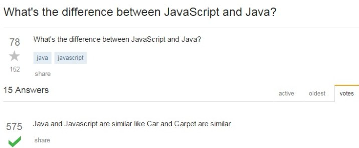 The Exact Difference Between Java and JavaScript