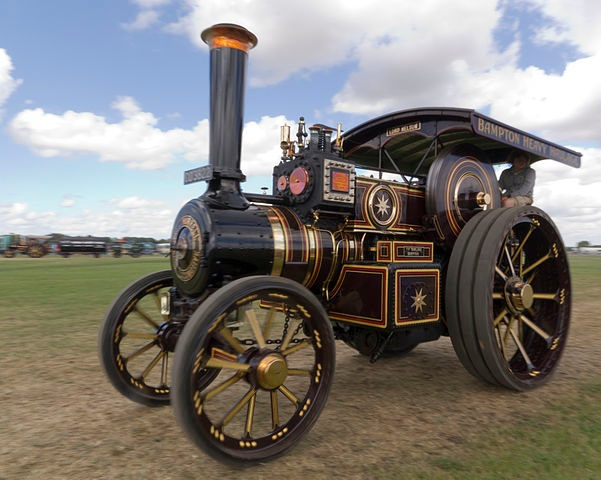 full sized steam road locomotive