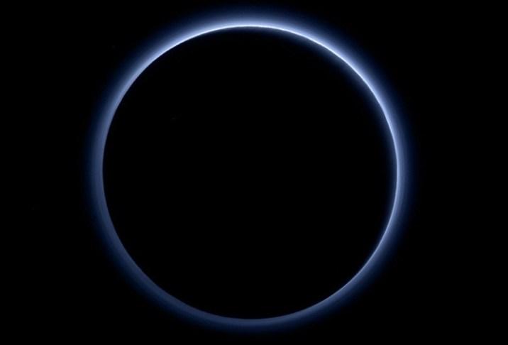 Plutos Blue Sky