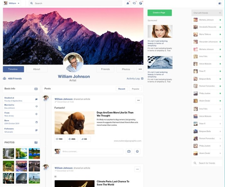 Elegant Profile Page