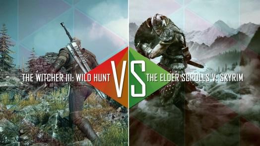 Skyrim The Elder Scrolls vs The Witcher 3 Wild Hunt