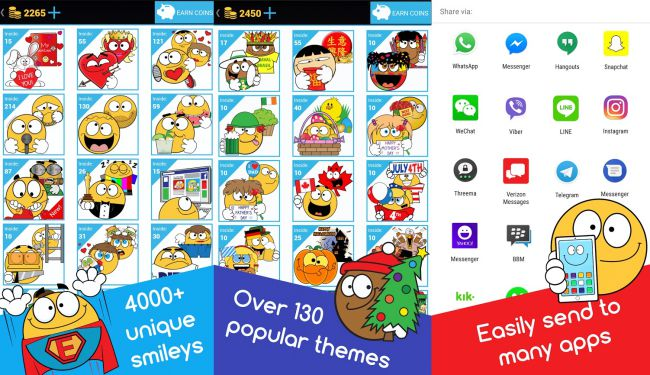 There Are More Than 130 Themes In App Including Holiday Stickers Birthday Emoticons Sports