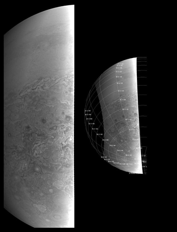 Close-up of Jupiter's Southern Hemisphere