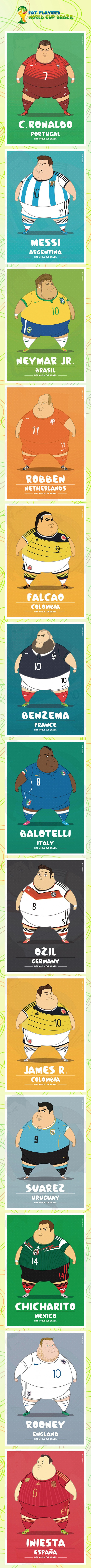 Fat players world cup brazil