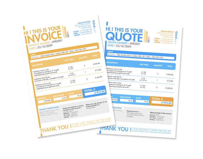 invoice quote