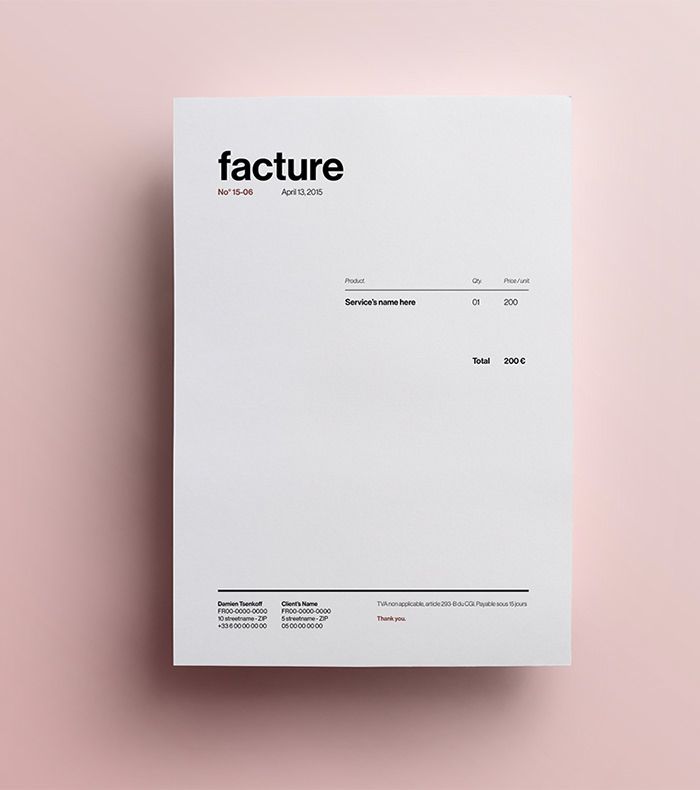 invoice template self