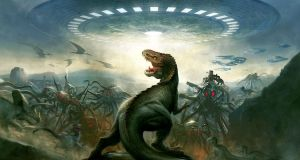 Could aliens at the distance of 65 light years see dinosaurs