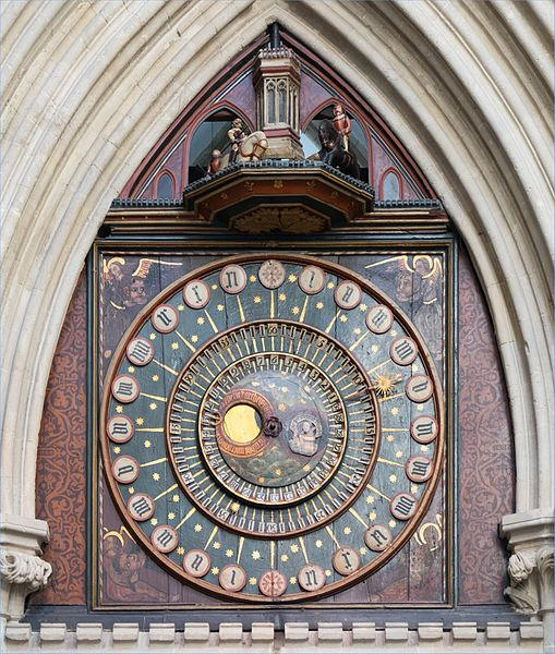 """A picture of Wells Cathedral clock to better answer """"What is an Astronomical Clock?"""""""