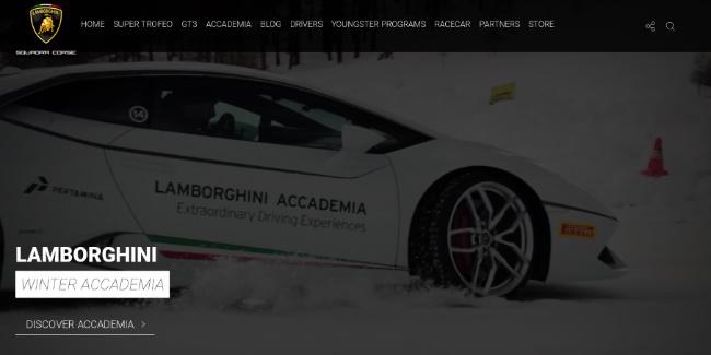 Lamborghini winter academy