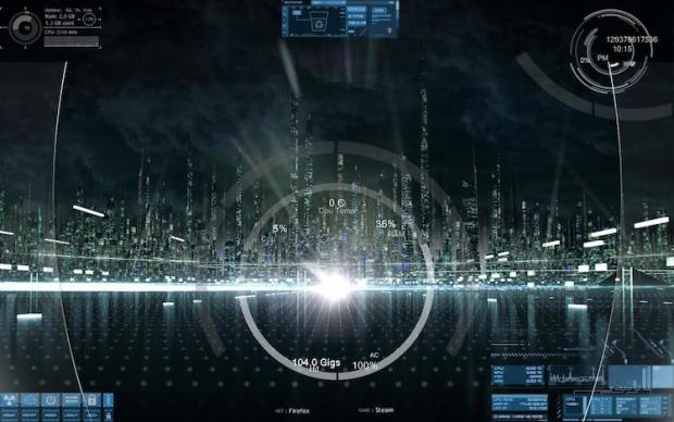 28 stunning rainmeter skins of 2018 rankred after seeing tron legacy the author decided to build a rainmeter theme cobbled together out of other themes which are blue vision spaceview and enigma gumiabroncs Image collections