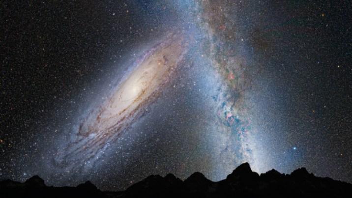 Andromeda Collides Milky Way