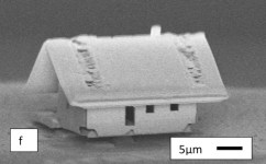 World's Smallest House measuring 20 micrometers