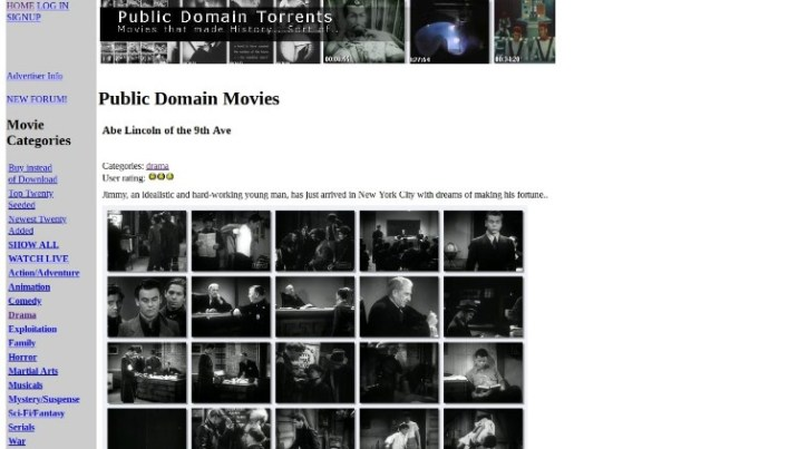 Public Domain torrents