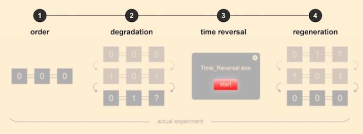 quantum computer reverse time