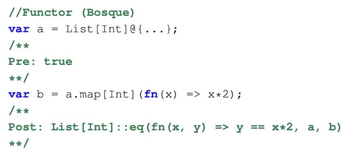 Bosque Programming Language without loops