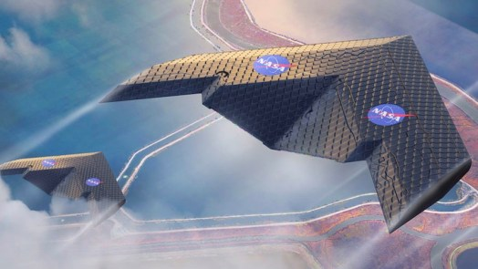 New type of airplane wing changes shape