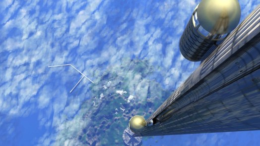 Space elevator possible