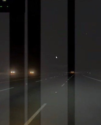 AI controls high beam light