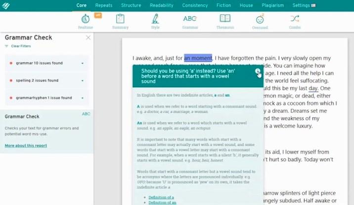 ProWritingAid - best grammar checker tool