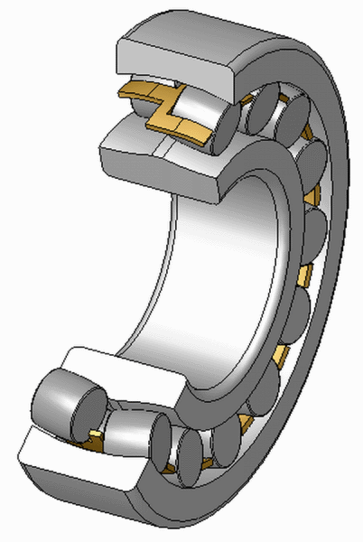 Double row spherical roller bearing