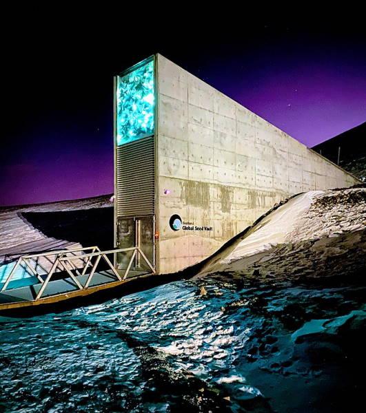 Svalbard Global Seed Vault entrance