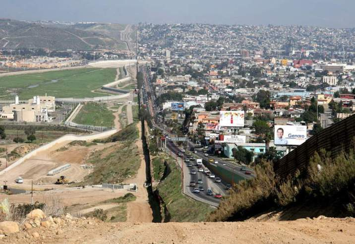 USA Mexico Border in Tijuana