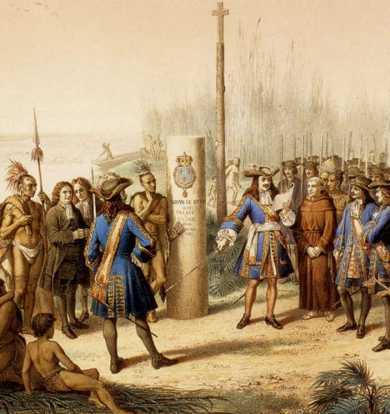 Lasalle claiming Louisiana for France