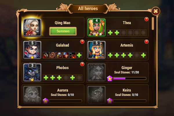Heroes tab